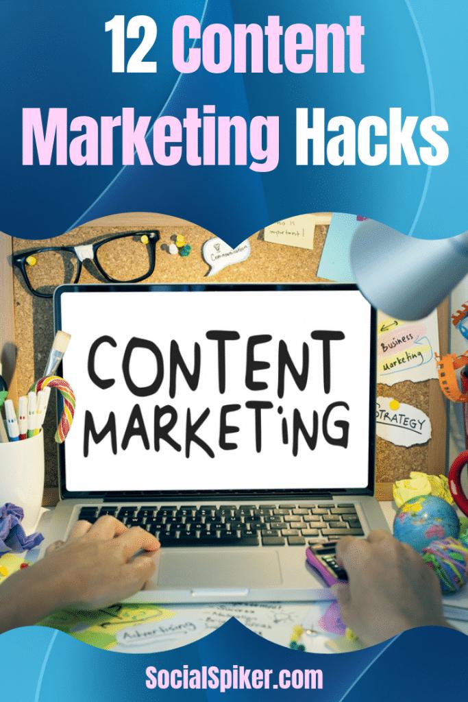 Content Marketing hacks Image Graphic